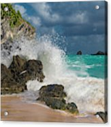 Tropical Beach Splash Acrylic Print