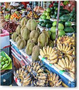 Tropical Fruit At A Street Market In Acrylic Print