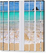 Tropical Paradise Beach Day Windows Acrylic Print