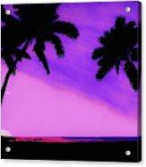 Tropical Pink Sunset Acrylic Print
