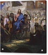 Try Of Christ Into Jerusalem, 1876 Acrylic Print