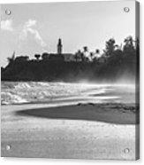 Tuna Punta Lighthouse Black And White Acrylic Print