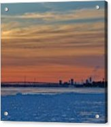 Tundra Swan Niagara Sunset Acrylic Print