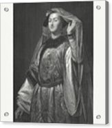 Turandot, Fictional Character By Gozzi Acrylic Print