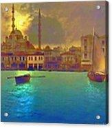 Turkish  Moonlight Acrylic Print