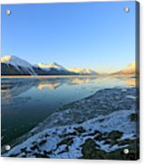 Turnagain Arm In Winter Alaska Acrylic Print