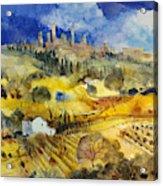 Tuscan Landscape - San Gimignano Acrylic Print