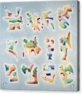 Twelve Glyphs Acrylic Print