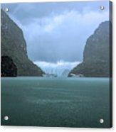 Twin Limestones Cruise Ships Ha Long Bay  Acrylic Print
