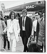 Two Beatles Arrive In New York Acrylic Print