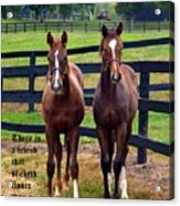Two Friends With Proverbs 18 Vs 24 Acrylic Print