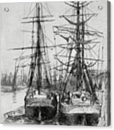 Two Ships, 19th Century 1904.artist Acrylic Print