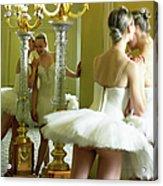 Two Teenage Ballet Dancers 13-15 In Acrylic Print