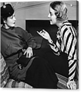 Two Women In Casual Conversation Acrylic Print