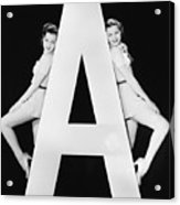 Two Women With Huge Letter A Acrylic Print
