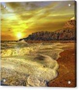 Twr Mawr Lighthouse Sunset Acrylic Print