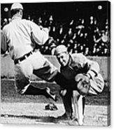 Ty Cobb Sliding Into Catcher Acrylic Print