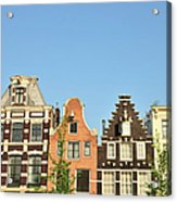 Typical Canal Houses, Amsterdam, The Acrylic Print
