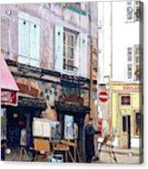 Un Artiste A La Place Du Tertre Paris. Acrylic Print