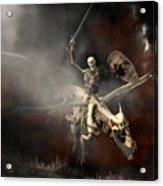 Undead Dragon And Skeleton Rider Acrylic Print
