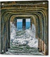 Under The Pier Manhattan Acrylic Print