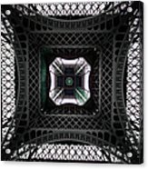 Underneath Of Eiffel Tower, Low Angle Acrylic Print