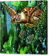 Underwater Mardi Gras Acrylic Print