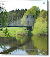 Union Chain Bridge At Horncliffe On River Tweed Acrylic Print