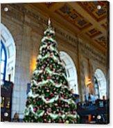 Union Station Decorates For Christmas In Kansas City Acrylic Print