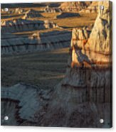 Unique Formations Of Coal Mine Canyon Acrylic Print