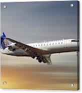 United Express Bombardier Crj-200lr Acrylic Print