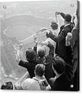 Univ. Of Pittsburgh Students Cheering Wi Acrylic Print