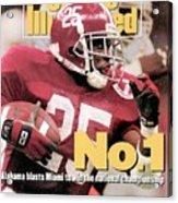 University Of Alabama Derrick Lassic, 1993 Usf&g Financial Sports Illustrated Cover Acrylic Print