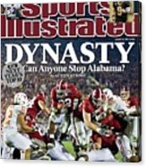 University Of Alabama Mark Ingram, 2010 Citi Bcs National Sports Illustrated Cover Acrylic Print