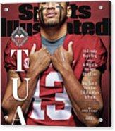University Of Alabama Qb Tua Tagovailoa, 2018 College Sports Illustrated Cover Acrylic Print