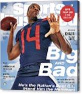 University Of Arizona Khalil Tate, 2018 College Football Sports Illustrated Cover Acrylic Print