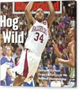 University Of Arkansas Corliss Williamson, 1994 Ncaa Sports Illustrated Cover Acrylic Print