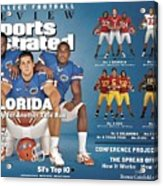 University Of Florida, 2008 College Football Preview Issue Sports Illustrated Cover Acrylic Print