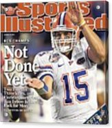 University Of Florida Florida Qb Tim Tebow, 2009 Fedex Bcs Sports Illustrated Cover Acrylic Print