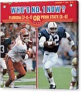 University Of Florida Ray Mcdonald And Penn State D.j Sports Illustrated Cover Acrylic Print