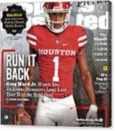 University Of Houston Greg Ward Jr., 2016 College Football Sports Illustrated Cover Acrylic Print