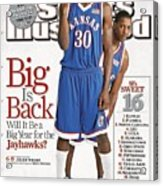 University Of Kansas Julian Wright And Mario Chalmers Sports Illustrated Cover Acrylic Print
