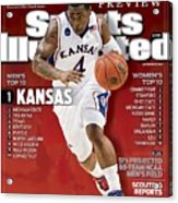 University Of Kansas Sherron Collins, 2009 Ncaa Midwest Sports Illustrated Cover Acrylic Print