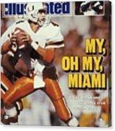 University Of Miami Qb Steve Walsh Sports Illustrated Cover Acrylic Print