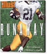 University Of Michigan Desmond Howard Sports Illustrated Cover Acrylic Print