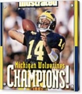 University Of Michigan Qb Brian Griese, 1997 Ncaa National Sports Illustrated Cover Acrylic Print