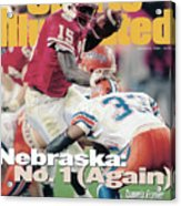 University Of Nebraska Qb Tommie Frazier, 1996 Tostitos Sports Illustrated Cover Acrylic Print