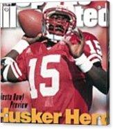 University Of Nebraska Qb Tommie Frazier Sports Illustrated Cover Acrylic Print