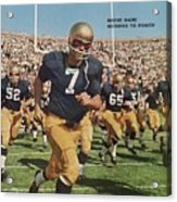 University Of Notre Dame Qb Johnny Huarte Sports Illustrated Cover Acrylic Print