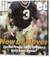 University Of Notre Dame Qb Ron Powlus Sports Illustrated Cover Acrylic Print